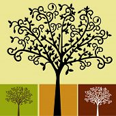 choices of tree colors vector