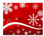 snowflake on red  background vector