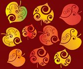autumn leaves easy to change colors vector