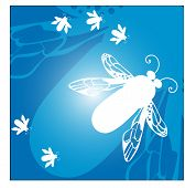funky bees vector