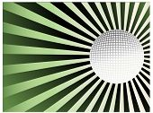 golf ball with burst behind (use together or separately)