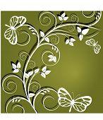 vine with butterflies