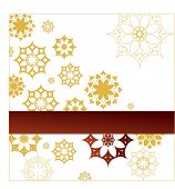 golden snowflakes (flowers) with banner