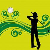 Senhora golfista