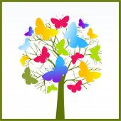 Butterfly tree - creativity concept