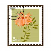 chrysanthemum postage stamp