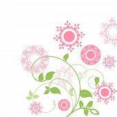 pink stylized flowers