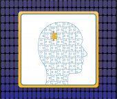 Profile of male puzzle