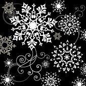 variedade de flocos de neve