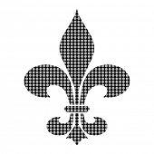Fleur dis lis - Poka-dot pattern