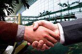 handshake at business center