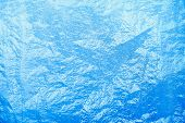 Turquoise Frost Background, Closeup Frozen Winter Window Pane Coated Shiny Icy Frost Patterns, Extre poster