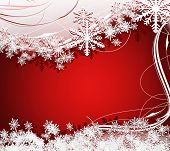 Frame for greeting and  wishes of merry Christmas and a happy New Year on red