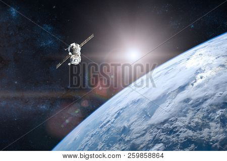 Blue Planet Earth Spacecraft Launch