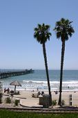 view of San Clemente Pier and Beach in Southern California