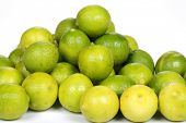 Key Limes isolated on white