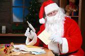 Santa reads his