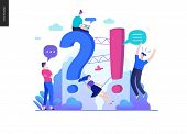 Business, Color 2- Faq -modern Flat Vector Concept Illustration Of Frequently Asked Questions People poster