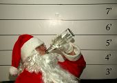Bad Santa Santa Claus has been a bad bad boy this year and was arrested, and had his mugshot taken