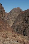 Mount Sinai aka Jebel Musa (2285 m) on Sinai Peninsula, Egypt