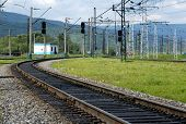 Trans-Siberian railway, the longest railway in the world, near Lake Baikal in Siberia, Russia