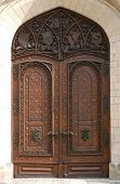 Huge carving gate from the Victorian chateau of Hluboka, Czech Republic