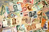 Exotic Asian and African banknotes