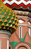 Detail of the famous St. Basil's Cathedral at Red Square in Moscow, Russia.