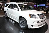 CHICAGO - FEBRUARY 15: The GMC Acadia presentation at the Annual Chicago Auto Show on February 15, 2