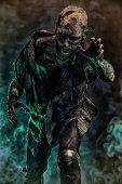 Creepy scary zombie. Halloween. Horror film. poster