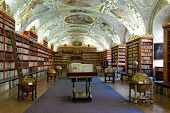 Theological hall of famous baroque library at Strahov - Prague, Czech Republic