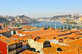 vista over tiled roofs of Oporto