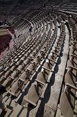 Amphitheatre seats of Verona Arena. Italy