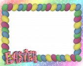 Easter Egg Frame Rainbow