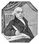 Christian Friedrich Samuel Hahnemann was a German physician, known for creating an alternative form of medicine called homeopathy. Illustration originally published in Harper's Monthly, June 1880.