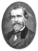 Giuseppe Verdi (1813-1901) was an Italian Romantic composer, mainly of opera. Engraving from Harper'