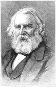 Henry Wadsworth Longfellow (1807-1882), American poet and educator. Engraving from Harper's Monthly
