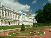 Yekaterinksy Palace at Tsarskoe Syolo (Pushkin) in Russia