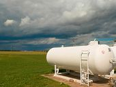 Large propane gas tanks