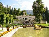Garden by castle in Linderhof, Bavaria, Germany