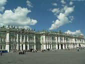 Winter palace square in St. Petersburg, Russia.
