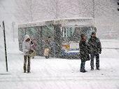 Snowstorm in Helsinki, Finland