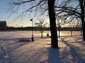 Winter sunset in Helsinki