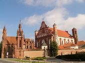 St. Ann and St. Bernardin churches in Vilnius, Lithuania