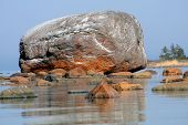 Ehalkivi (Sunset Glow Boulder) is a giant pegmatite granite boulder