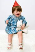 foto of fussy  - The crying little girl - JPG