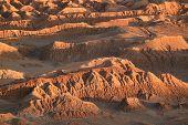 Awesome Rock Formations At The Moon Valley Or El Valle De La Luna, Atacama Desert, San Pedro Atacama poster