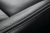 Modern Luxury Car Black Leather Interior. Part Of Leather Car Seat Details. Interior Of Prestige Mod poster