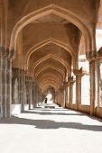 The passage of Zenana Enclosure, area of Hampi, Karnataka, India