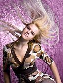 Beautiful fashion woman with long hair portrait ,studio shot